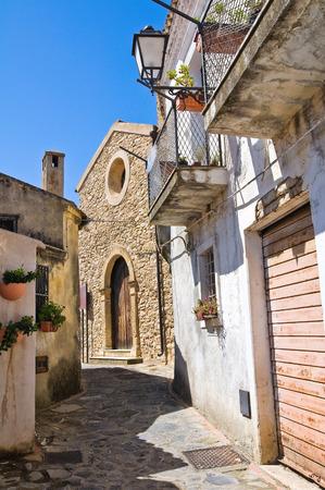 Alleyway. Rocca Imperiale. Calabria. Italy. photo