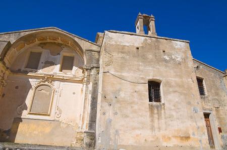 pietro: Church of St. Pietro. Craco. Basilicata. Italy.