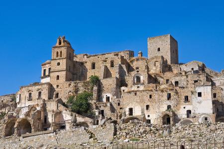 Panoramic view of Craco. Basilicata. Italy.