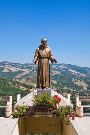 pio: Bronze statue. Guardia Perticara. Basilicata. Italy.