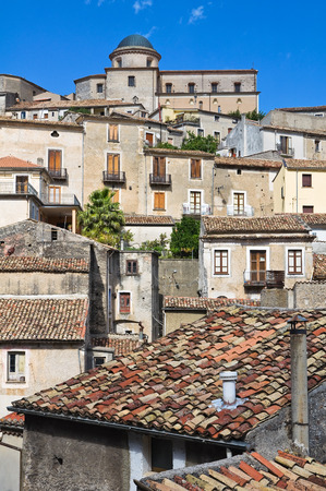 Panoramic view of Morano Calabro. Calabria. Italy. photo