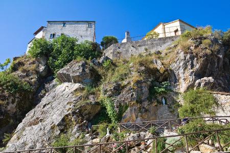 lucania: View of Satriano di Lucania. Italy. Stock Photo