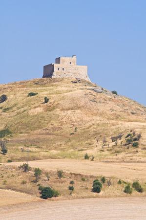 lucania: Monteserico Castle. Genzano di Lucania. Italy.