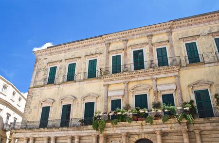 Palacio Melodia. Altamura. Puglia. Italia. Foto de archivo - 34778407