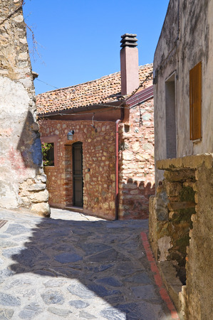 alleyway: Alleyway. Rocca Imperiale. Calabria. Italy. Stock Photo