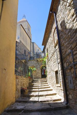 potenza: Alleyway. Guardia Perticara. Basilicata. Italy.