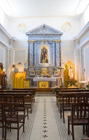 potenza: Church of St. Antonio. Pietragalla. Basilicata. Italy. Editorial