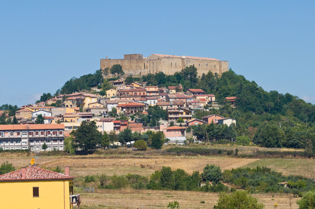 potenza: Panoramic view of Lagopesole. Basilicata. Italy.