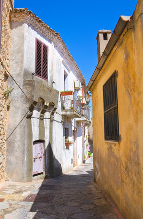 urbanistic: Alleyway. Rocca Imperiale. Calabria. Italy. Stock Photo