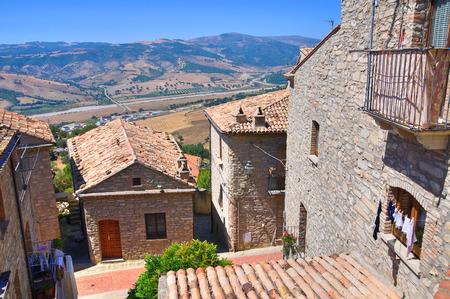 potenza: Panoramic view of Guardia Perticara. Basilicata. Italy.