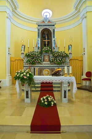 potenza: Church of St. Francesco. Viggianello. Basilicata. Italy. Editorial