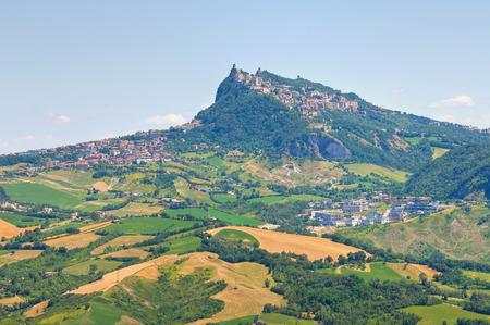 emilia romagna: Panoramic view of Emilia-Romagna. Italy. Stock Photo