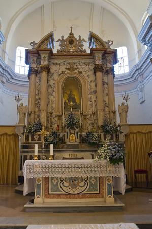 pilaster: Mother Church of Oriolo. Calabria. Italy. Editorial