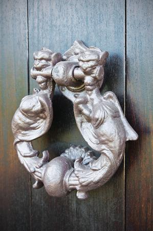 doorknocker: Doorknocker. Viggianello. Basilicata. Italy.