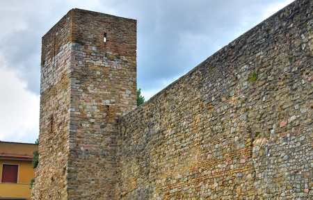 fortified: Fortified Wall. Montefalco. Umbria. Italy. Editorial
