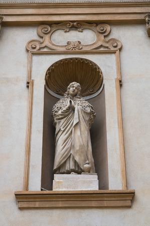 architectural architectonic: Church of St.Teresa. Piacenza. Emilia-Romagna. Italy.