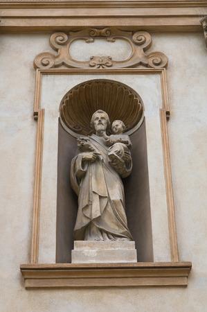 urbanistic: Church of St.Teresa. Piacenza. Emilia-Romagna. Italy.