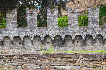 architectural architectonic: Castle of Riva. Ponte dellOlio. Emilia-Romagna. Italy.