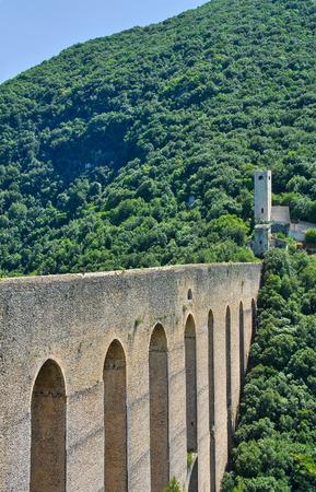 torri: Ponte delle Due Torri. Spoleto. Umbria. Italy.
