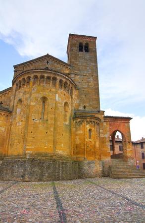 collegiate: Collegiate Church. Castellarquato. Emilia-Romagna. Italy.