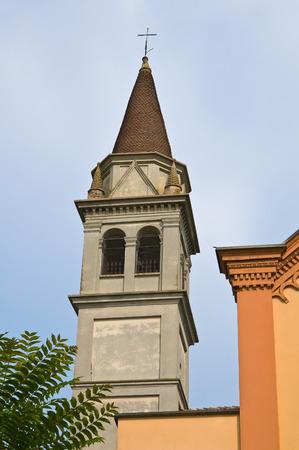 urbanistic: Church of St. Martino. Torrano. Emilia-Romagna. Italy.