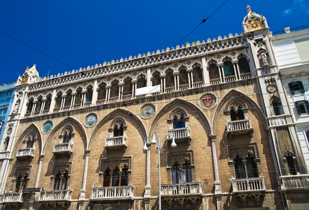 bari: Fizzarotti palace. Bari. Puglia. Italy.