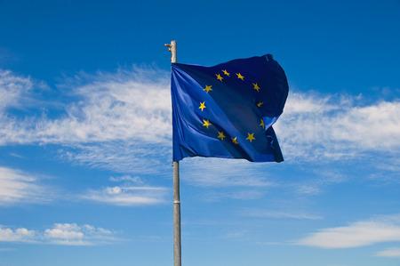 flagging: European Union flag.