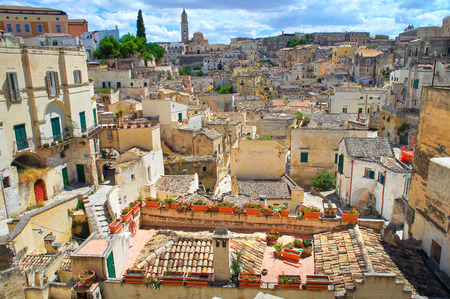 lucania: Alleyway. Sassi of Matera. Basilicata. Italy.