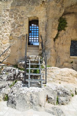 madonna: Church of Madonna dellIdris. Matera. Basilicata. Italy. Stock Photo