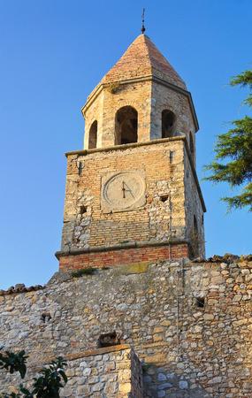 rooftile: Historical church. Bovino. Puglia. Italy. Stock Photo
