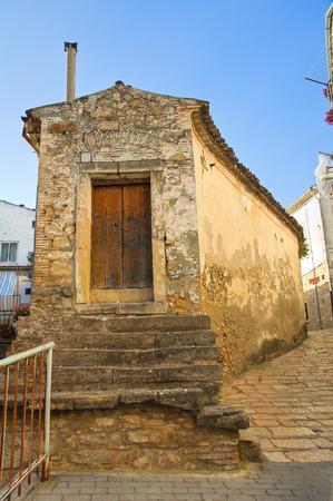 rooftile: Alleyway. Bovino. Puglia. Italy. Stock Photo