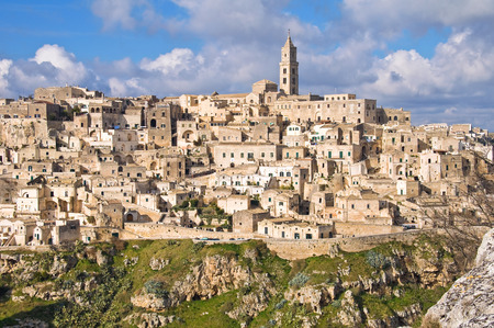 basilicata: Panoramic view of Matera. Basilicata. Italy.