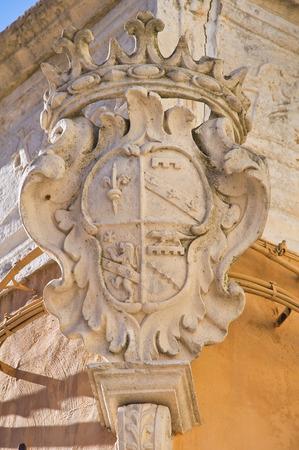 historische: Historisch paleis. Bisceglie. Puglia. Italië.
