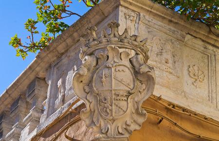 puglia: Historical palace. Bisceglie. Puglia. Italy. Stock Photo