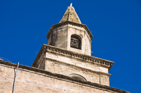 urbanistic: Church of St. Matteo. Bisceglie. Puglia. Italy. Stock Photo