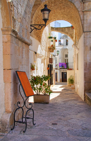 Alleyway. Locorotondo. Puglia. Italy. Stock Photo