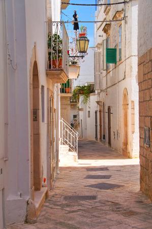 puglia: Alleyway. Locorotondo. Puglia. Italy. Stock Photo