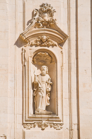 urbanistic: Basilica church of St. Martino. Martina Franca. Puglia. Italy.
