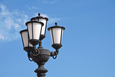 rustiness: Streetlamp. Bari. Puglia. Italy. Stock Photo