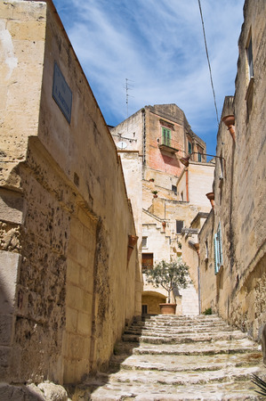 rooftile: Alleyway Sassi of Matera.  Stock Photo