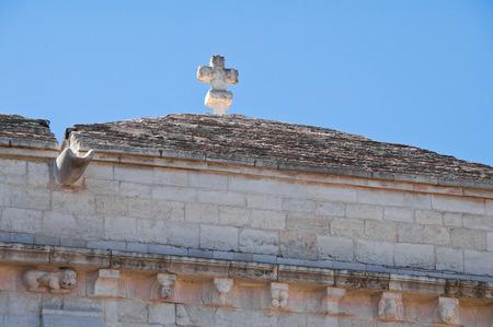 urbanistic: Basilica Church of St. Sepolcro. Barletta. Puglia. Italy.