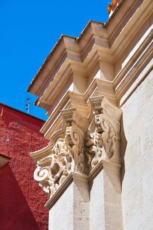 urbanistic: Purgatory church. Barletta. Puglia. Italy.
