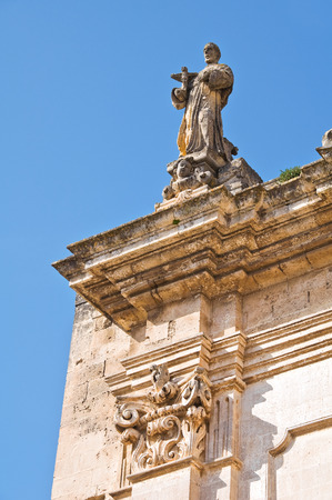 lucania: Church of St. Francesco. Matera. Basilicata. Italy. Stock Photo