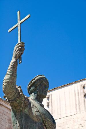 urbanistic: Bronze statue. Barletta. Puglia. Italy.