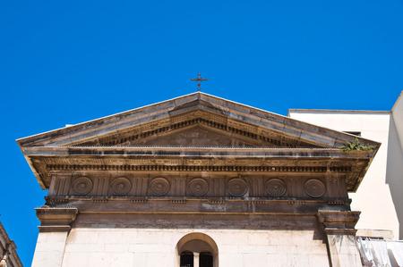 urbanistic: Church of St. Michele. Barletta. Puglia. Italy.