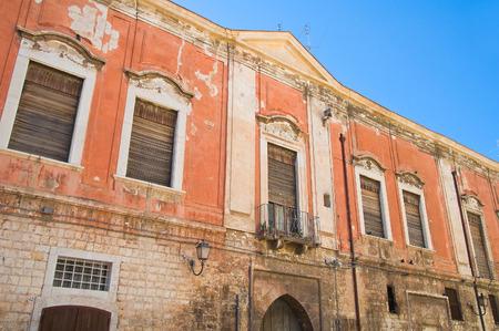 puglia: Historical palace. Barletta. Puglia. Italy.