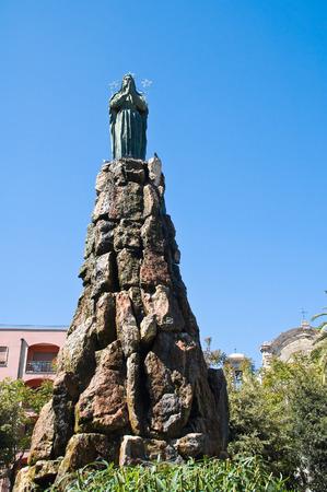 architectural architectonic: Bronze statue. Barletta. Puglia. Italy.