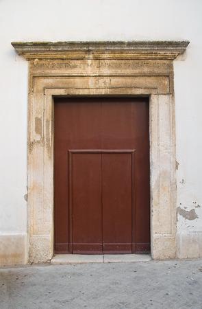 puglia: Wooden door. Bovino. Puglia. Italy.