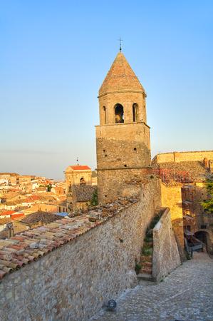 foggia: Panoramic view of Bovino. Puglia. Italy. Stock Photo