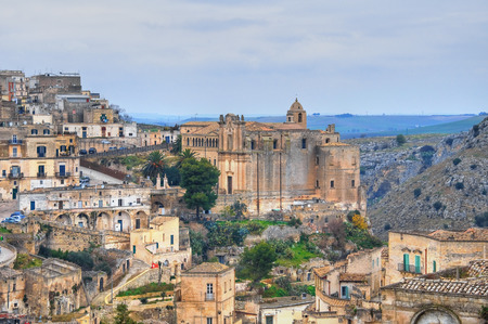 urbanistic: Panoramic view of Matera. Basilicata. Italy.
